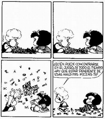 mafalda ajedrez