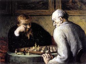 Honoré Daumier Los jugadores de Ajedrez