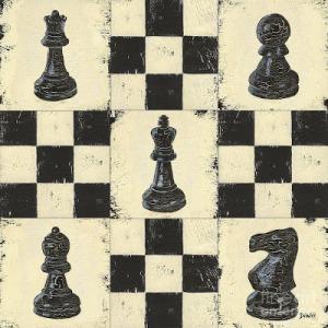debbie dewitt chess pieces acrílico osbre madera