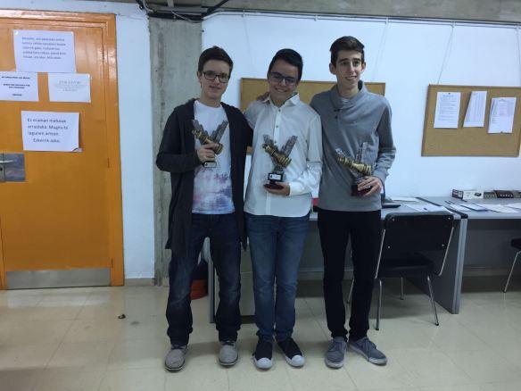 Trio de premiados